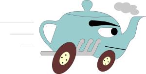 Racing teapot